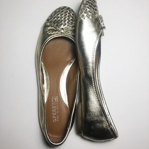 Sperry top sider flats Maya 7M gold